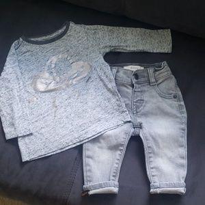 Gymboree Baby Skinny Jeans & Shirt